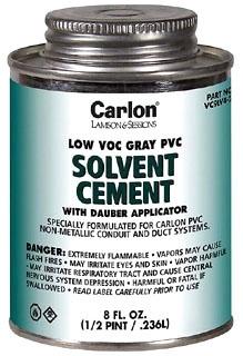 CL VC9LV2 1 QT GRAY LOW VOC PVC CEM