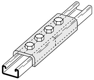 BL B167-ZN FOUR HOLE SPLICE CLEVIS