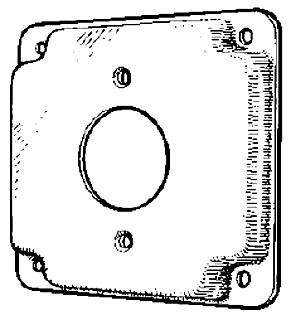 MULB 11421 4IN SQ 1/2 RSD RCPT CVR