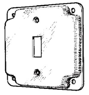 MULB 11401 4IN SQ 1/2 RSD SW CVR