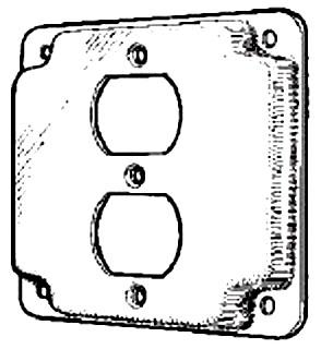 MULB 11402 4IN SQ 1/2 RSD 1DPLX CVR