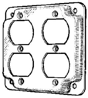 MULB 11411 4IN SQ 1/2 RSD 2DPLX CVR