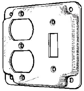 MULB 11413 4IN SQ 1/2 RSD COMB CVR