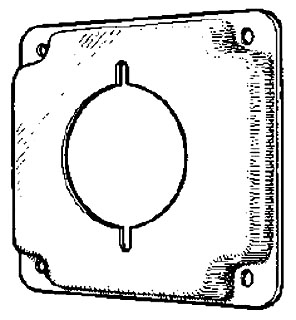 MULB 11422 4IN SQ 1/2 RSD RCPT CVR