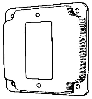 MULB 11432 4IN SQ 1/2 RSD GFCI CVR