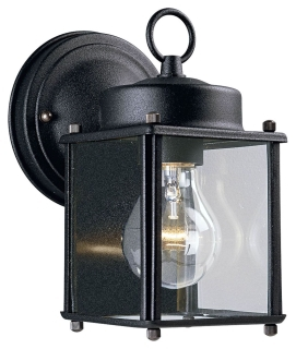 PROG P5607-31 BLACK WALL LANTERN