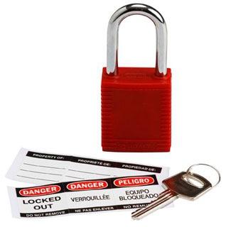 BRA 103533 1.5 RED SAFETY PADLOCK