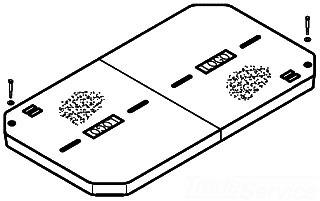 QZT LG3060CA0009 BLANK CVR COVER