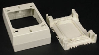 WM 2347-WH WHITE 1G 1-3/8D DEV BOX