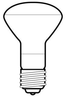 GE 45R20MI/1-6PK-120 120V FLD LAMP