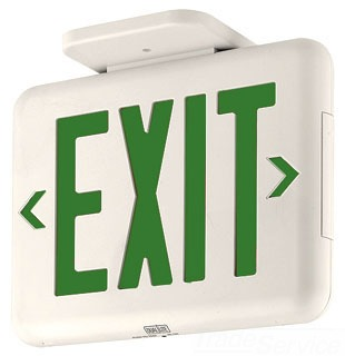 DUAL EVEUGWE GRN LED EXIT SIGN