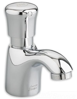 American Standard 1340.105.002; ; single handle metering pillar tap 1.5 gpm less grid drain; in Polished Chrome