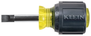 """KLEIN 600-1 SLOTTED SCREWDRIVER 5/16"""" X 1-1/2"""" CABINET TIP ROUND SHANK W/ CUSHION GRIP HANDLE, 3-7/16"""" OVERALL LENGTH"""
