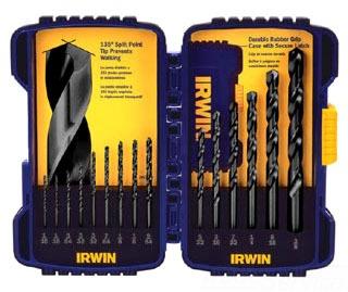 IRWIN 314015 15PC. HSS BLACK OXIDE DRILL BIT SET