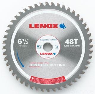 "LENOX 21877 6-1/2"" 48T THIN STEEL CUTTING CARBIDE CIRCULAR SAW BLADE 5/8 ARBOR"
