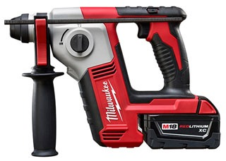 """MILWAUKEE 2612-21 M18 XC SDS+ 5/8"""" ROTARY HAMMER KIT WITH ONE 18V HIGH CAPACITY LI-ION BATTERY, CHARGER, & CASE"""
