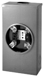 Eaton B-Line 204 600 Volt 200 Amp 1-Phase 3-Wire 4-Jaw Single Meter Socket