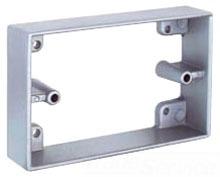 Teddico EXR-1V 1-Gang 4-9/16 x 2-13/16 x 1 Inch 10 InGray Die-Cast Metal Box Extension
