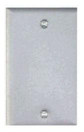 Teddico BC-1V 1-Gang Gray Stamped Steel Blank Weatherproof Box Cover