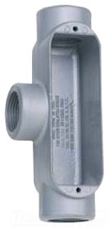 Teddico 703-CGV 1-1/4 Inch Gray Aluminum Threaded Type T Conduit Body with Cover and Gasket