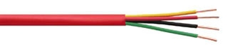 981604SD FPLP 16/4 Fire Alarm Cable, Plenum Rated, Shielded, Red PVC Jacket (1000' Spool)