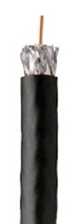 RG6 Quad Shield Coax Cable, Black (1000' Reel)