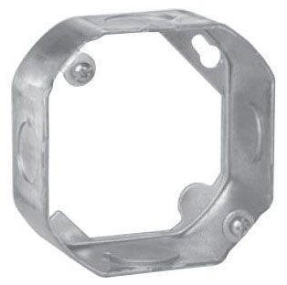Crouse-Hinds Series TP286 4 Inch Steel Octagon Outlet Box Extension Ring