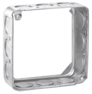 Crouse-Hinds Series TP424 4 x 4 x 1-1/2 Inch Steel Square Cover Extension Ring