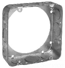 Crouse-Hinds Series TP550 4-11/16 x 4-11/16 x 1-1/2 Inch Steel Square Cover Extension Ring