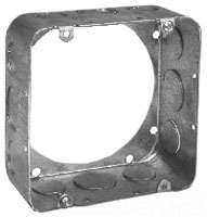 Crouse-Hinds Series TP564 4-11/16 x 4-11/16 x 2-1/8 Inch Steel Square Cover Extension Ring