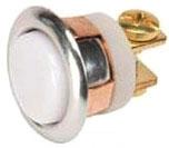 Edwards Signaling 621 8/24/48 Volt 2 Amp Momentary Chrome/White Low Voltage Non-Illuminated Push Button