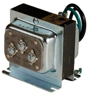 Edwards Signaling 596 15 VA 120 VAC Primary 6/12/18 VAC Secondary Low Voltage Transformer