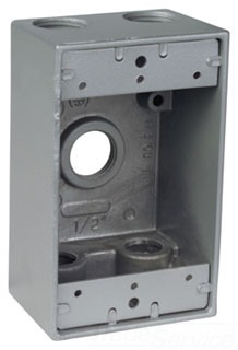 Red Dot IH5-2 5-Hole 3/4 Inch Dry-Tite Device Box