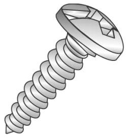 Minerallac 19013J #10 x 3/4 Inch Zinc Plated Steel Combination Slotted/Phillips Drive Pan Head Sheet Metal Screw