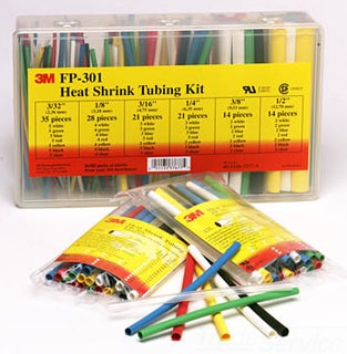 3M FP301-3/32 to 1/2-Assrted-5-133 PC Kits Thin Wall Shrink Tubing