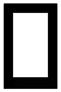 Mulberry 99401 1-Gang Ivory Wrinkle Steel Block Duplex/GFI Receptacle Wallplate