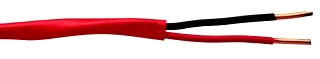 Coleman 984200604 1000 Foot 14 AWG 2-Conductor Red Copper FPLR Unshielded Fire Alarm Cable