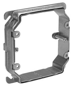 Crouse-Hinds Series AMR2 5/8 to 1-1/2 Inch 2-Gang Steel Raised Adjustable Square Box Mud Ring