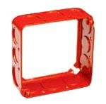 Crouse-Hinds Series TP428RED 4 x 4 x 1-1/2 Inch Steel Square Cover Extension Ring