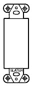 "Pass & Seymour 326-W 1.3 x 3.812"" White Painted Steel Box Mounting Strap"