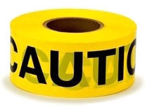 3M 374 3 Inch x 300 Foot Yellow Caution Do No Enter Tape