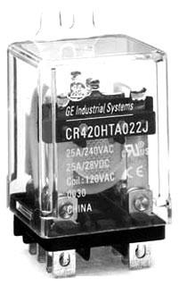 GE Industrial Solutions 420HPC0334 3PDT 24 Volt 20 Amp Socket Mount Plug-In Control Relay