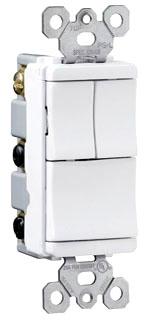 Pass & Seymour TM8111-WCC 15 Amp 120 VAC 1-Pole White Decorator Combination Switch