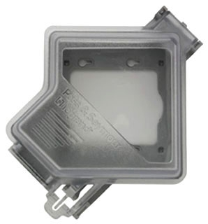 Pass & Seymour WIUC20-CL 2-Gang NEMA 3R Clear Polycarbonate Horizontal/Vertical Mounting Weatherproof While-In Use Cover