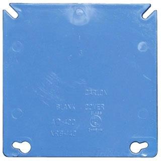 Carlon A400 1-Gang 4 Inch Square Blank Box Cover