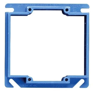 "Carlon A420 2-Gang 4"" Side 1/2"" Raised Square Cover"