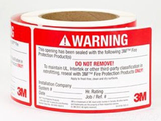 3M LABEL FIRESTOP ID LB 3INX5IN 250