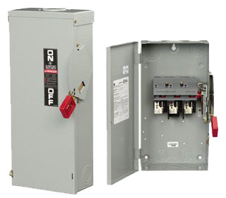 GE Industrial Solutions THN3361 3-Pole 30 Amp 600 Volt NEMA 1 Heavy Duty Non-Fusible Safety Switch