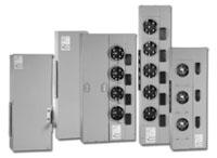 GE Industrial Solutions TMP8220R 1-Phase 3-Wire 800 Amp 2-Socket NEMA 3R Ring Meter Stack Module
