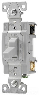 Eaton Wiring Devices CS420GY-BU 4-Way 20 Amp Toggle Switch